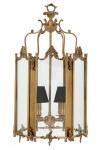 Casa Padrino Barock Hängeleuchte aus Messing Antik-Look, 4 Flammiger Kronleuchter, Breite 39 cm, Höhe 73 cm, Tiefe 42 cm - Barock Schloss Lampe - feinste Qualität