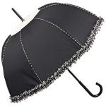 Chantal Thomass Designer Damen Regenschirm in schwarz mit schöner schwarz/weißer Kräuselkante - sehr Elegant - Made in Paris