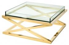 Casa Padrino Luxus Couchtisch / Wohnzimmertisch Gold 100 x 100 x H. 46, 5 cm - Hotel Möbel