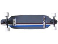 Krown Longboard Komplettboard Skateboard Elite Drop Through Gray Longboard Complete