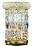 Casa Padrino Barock Kristall Tischleuchte Gold Ø 18 x H. 28 cm - Barockstil Leuchten & Accessoires