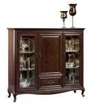 Casa Padrino Luxus Jugendstil Wohnzimmerschrank mit 3 Türen und Schublade Dunkelbraun 148, 3 x 45, 6 x H. 133, 2 cm - Luxus Qualität