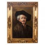 Handgemaltes Barock Öl Gemälde Portraet Rembrandt 1 Gold Prunk Rahmen 130 x 100 x 10 cm - Massives Material - Selbstporträt