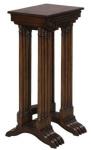 Casa Padrino Luxus Beistelltisch Braun / Dunkelbraun 37 x 34 x H. 73 cm - Ausziehbarer Mahagoni Tisch