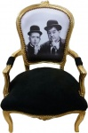 Casa Padrino Barock Salon Stuhl Laurel & Hardy - Limited Edition