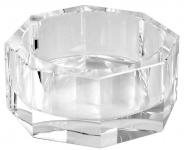Casa Padrino Luxus Deko Kristallglas Schüssel 21, 5 x 21, 5 x H. 9 cm - Luxus Qualität