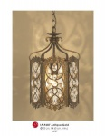 Orientalische Designer Pendelleuchte mit Kristall-Deco Antik Gold ModP3 Leuchte Lampe aus dem Hause Casa Padrino - Deckenleuchte Hängeleuchte