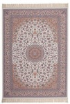 Casa Padrino Luxus Teppich Elfenbeinfarben - Verschiedene Größen - Gemusterter Wohnzimmer Teppich mit Fransen - Luxus Qualität