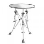 Casa Padrino Luxus Barock Beistelltisch Messing Vintage Silber Finish 60 x H 78 cm - Tisch Möbel