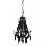 Casa Padrino Hängeleuchte Deckenleuchte Schwarz Durchmesser 33 x H 50 cm - Möbel Lüster Leuchter Deckenleuchte Deckenlampe