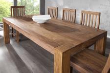 Casa Padrino Sheesham Massivholz Esstisch 200 x 100 cm - Gasthaus Tisch Speisetisch - Restaurant Möbel - schwere Ausführung
