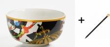 Harald Glööckler Porzellan Schale 15 cm Mod1 + Luxus Bleistift von Casa Padrino - Barock Dekoration