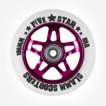 Slamm Profi Scooter Rolle Ninja Star White/Purple 100mm / 88A (1 Rolle) inkl Abec 9 Kugellager