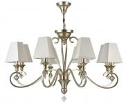 Casa Padrino Luxus Barockstil Kronleuchter 8-Flammig Gold-Bronze / Weiß Ø 84 x H. 58 cm - Luxus Qualität