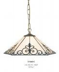 Handgefertigte Tiffany Pendelleuchte Hängeleuchte Durchmesser 36 cm, 1-Flammig - Leuchte Lampe
