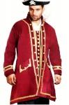 Captain Easton Piraten Mantel - Red