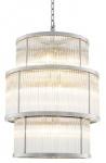 Casa Padrino Kronleuchter in silber mit klarem Glas 55 x H. 78 cm - Luxus Wohnzimmermöbel