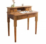 Casa Padrino Barock Sekretär 90cm mit Schubladen aus edlem Sheeshamholz - Schreibtisch - Sekretär Konsole