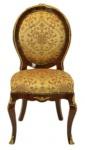 Casa Padrino Barock Luxus Esszimmer Medaillon Stuhl Gold Muster / Mahagoni - Antik Stil - Möbel