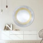 Casa Padrino Luxus Designer Wohnzimmer Spiegel Bronze Ø 105 cm - Designermöbel