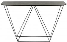 Casa Padrino Luxus Konsole mit einer mineralbeschichteten Tischplatte 130 x 40 x H. 85 cm - Wohnzimmermöbel