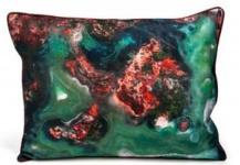 Casa Padrino Designer Deko Kissen Mehrfarbig 40 x 3 x H. 30 cm - Luxus Seidenkissen