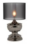 Casa Padrino Luxus Tischleuchte Schwarz Nickel Durchmesser 35 x 50 x H 80 cm - Luxus Leuchte