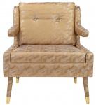 Casa Padrino Luxus Sessel Gold / Gold 76 x 88 x H. 89 cm - Wohnzimmer Sessel im Neoklassichen Stil - Designer Wohnzimmermöbel