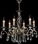 Casa Padrino Barock Kristall Decken Kronleuchter Bronze 63 x H 56 cm Antik Stil - Möbel Lüster Leuchter Hängeleuchte Hängelampe