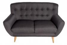 Chesterfield 2er Sofa grau aus dem Hause Casa Padrino - Wohnzimmer Möbel - Couch