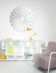 Casa Padrino Luxus Wandspiegel mit Blumenmotiv Ø 105 cm - Designer Spiegel