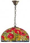 Casa Padrino Tiffany Hängeleuchte Mehrfarbig Ø 50 x H. 95 cm - Handgefertigte Tiffany Hängelampe aus 1221 Teilen