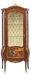 Casa Padrino Barock Vitrine Model Mahagoni Braun / Gold H 190 cm, B 85 cm - Vitrinenschrank - Wohnzimmerschrank