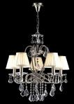 Casa Padrino Barock Kristall Decken Kronleuchter Nickel 56 x H 59 cm Antik Stil - Möbel Lüster Leuchter Hängeleuchte Hängelampe