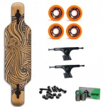 Koston Longboard Komplettboard Set Polaris 40.0 x 10.0 inch - Profi Dropthrough Longboard Drop Thru Carver
