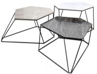 Casa Padrino Designer Couchtisch Set Weiß / Grau / Schwarz - Luxus Wohnzimmermöbel