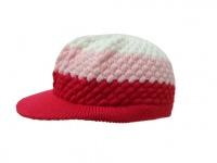 Skateboard Visor Beanie Red/pink/White Styler Visor Cotton Mütze