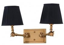 Casa Padrino Luxus 2er Wandleuchte Schwarz / Antik Stil Messing - Leuchte - Luxury Collection