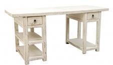 Casa Padrino Landhausstil Schreibtisch Antik Weiß 170 x 70 x H. 80 cm - Büromöbel im Landhausstil