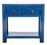 Casa Padrino Landhausstil Konsole Antik Stil Blau 90 x 40 x H. 85 cm - Landhausstil Möbel