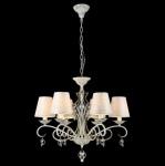 Casa Padrino Barock Decken Kristall Kronleuchter Weiß Gold 63 x H 57 cm Antik Stil - Möbel Lüster Leuchter Deckenleuchte Hängelampe