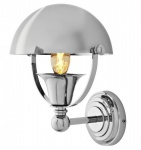 Casa Padrino Luxus Wandleuchte NYC Vintage Banker Style vernickeltes Metall - Wand Leuchte Lampe
