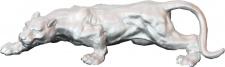 Casa Padrino Panther Skulptur H 11 cm, B 41 cm, T 13 cm - Massive Figur Gussmetall - schwere Ausführung