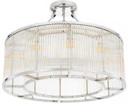 Casa Padrino Deckenleuchte Silber Ø 80 x H. 61 cm - Luxus Wohnzimmer Deckenlampe