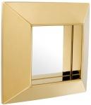 Casa Padrino Luxus Spiegel Gold 31 x 7 x H. 31 cm - Edelstahl Wandspiegel