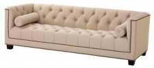 Casa Padrino Designer Sofa Sandfarbig 230 x 85 x H. 72 cm - Luxus Hotel Kollektion