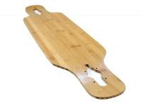 Koston Profi Longboard Bambus Fiberglass Drop Through Deck Flex 2 (39 x 8.75 Inch) mit transparentem Griptape