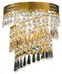 Casa Padrino Barockstil Kristall Wandleuchte Gold 22 x 14 x H. 19 cm - Barock Wohnzimmermöbel