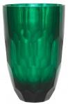 Casa Padrino Glas Vase Grün Ø 20 x H. 30 cm - Luxus Deko Blumenvase