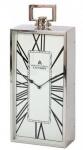 Casa Padrino Designer Luxus Uhr London 25, 5 cm x 11, 5 cm x H. 60, 5 cm Nickel - Tischuhr